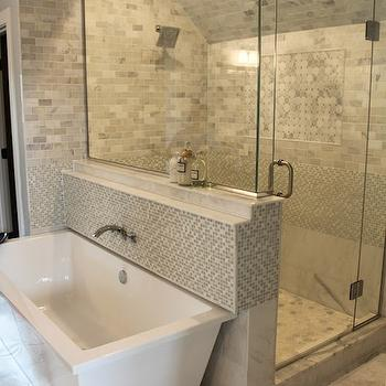 Master Bathroom With Freestanding Shower Transitional