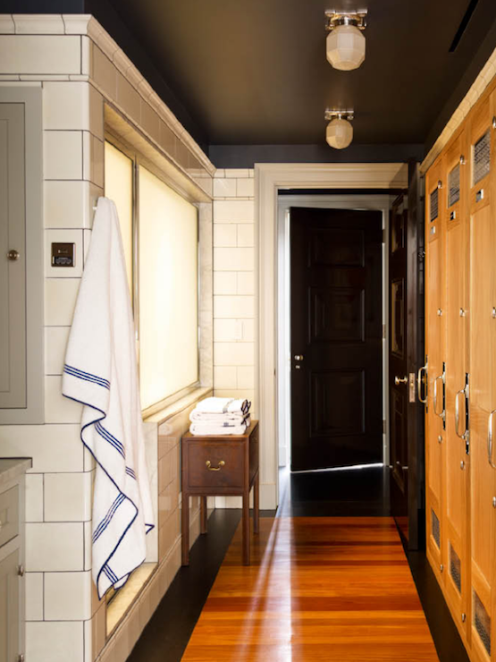 Locker room bathroom transitional bathroom s r gambrel - Bath shower room ...