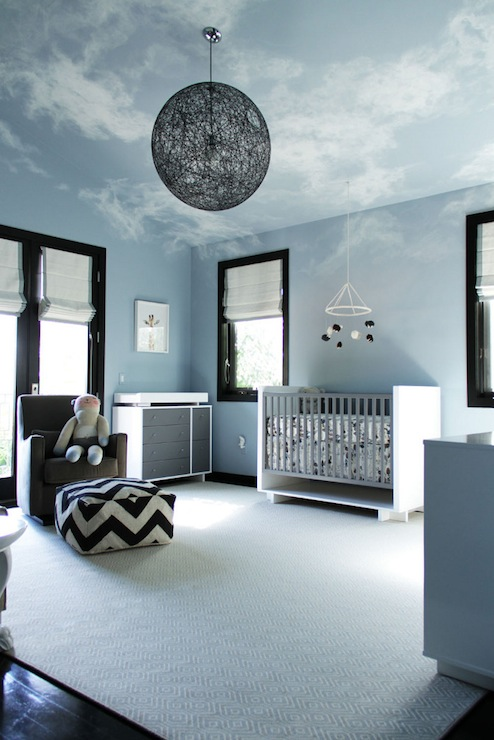 Clouds Painted On Ceiling Contemporary Nursery Amy