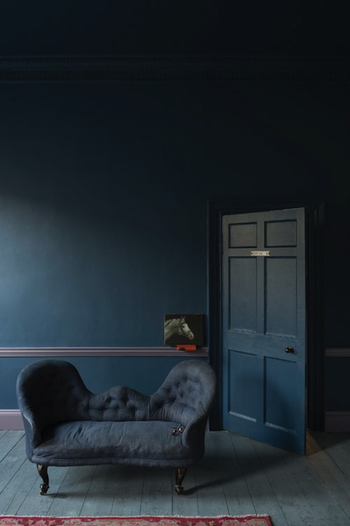 Dark Blue Paint Colors Eclectic Living Room Farrow And Ball Stiffkey Blue Farrow And Ball