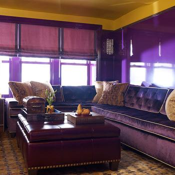 Purple Sectional, Contemporary, living room, S.R. Gambrel