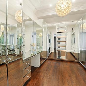 Makeup Vanity In Closet Transitional Closet Sroka Design
