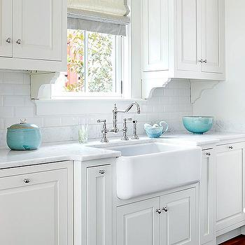 Superior Turquoise Kitchen Accents In Transitional Kitchen