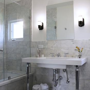 2 Leg Washstand, Transitional, bathroom, Amy Sklar Design