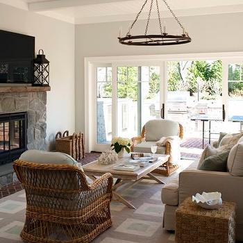 Seagrass Chairs, Cottage, living room, Kate Singer Home