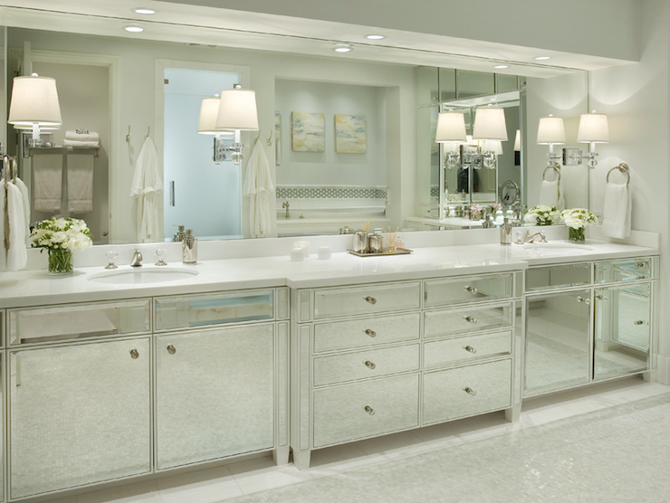 Mirrored Washstands Transitional Bathroom Berkley
