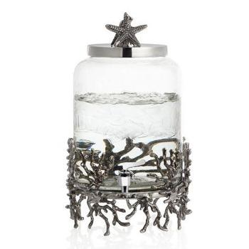 Zara Home Silver Glass Bathroom Set