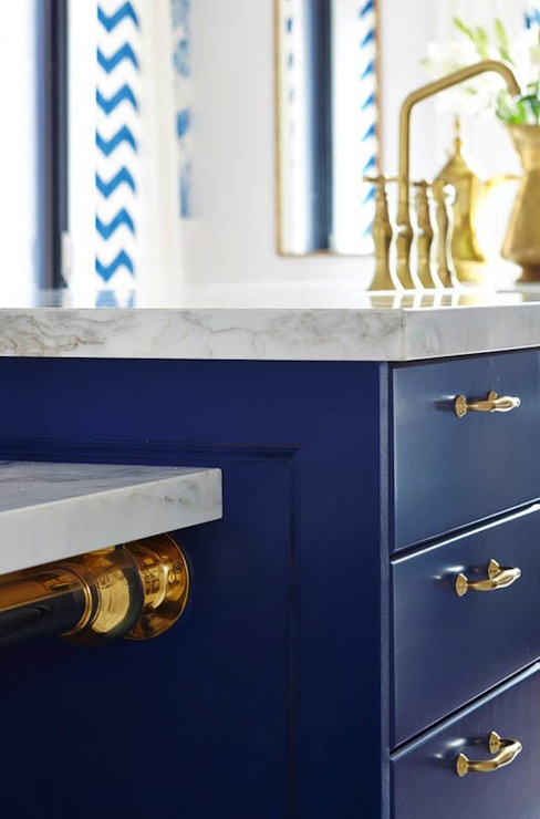 Blue Kitchen Island Contemporary Kitchen Ici Dulux