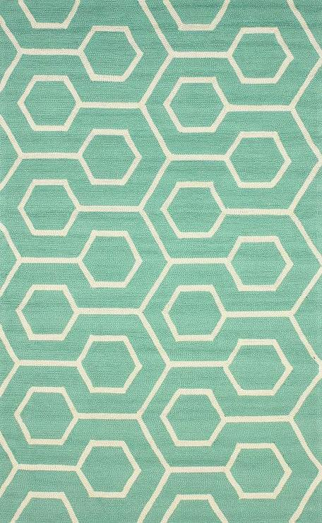 Hacienda Outdoor Trellis Seafoam Green Rug