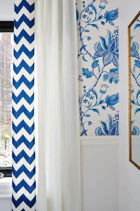 Royal Blue And White Wallpaper Design Ideas