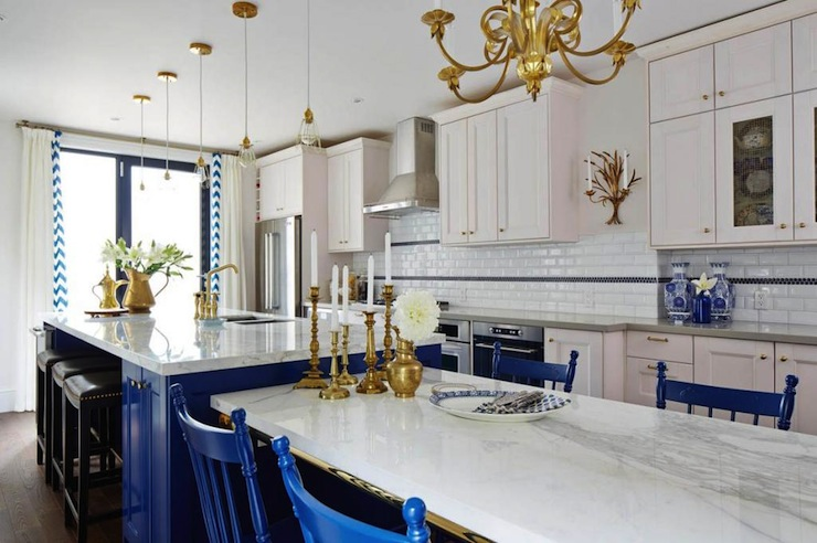 White and Blue KItchen  Contemporary  kitchen  ICI Dulux Rich Navy
