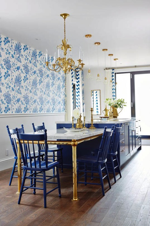 Donegal Blue And White Wallpaper Design Ideas