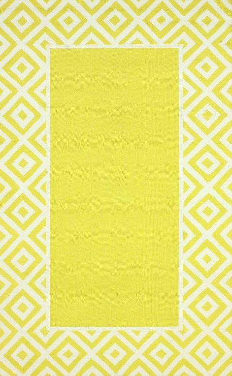 Homespun Border Lemon Yellow Rug