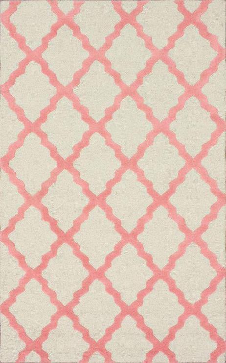 Homespun Moroccan Bubble Gum Pink Trellis Rug