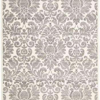 Gray And Celadon Damask Rug - Products