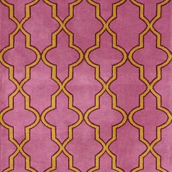 Serenity Moroccan Trellis Pink Rug, Rugs USA