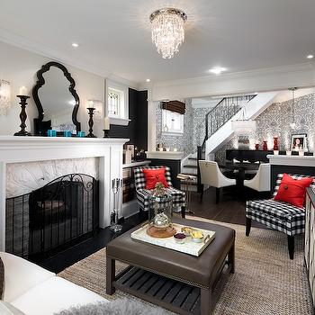 Family Room in Basement, Contemporary, living room, Candice Olson