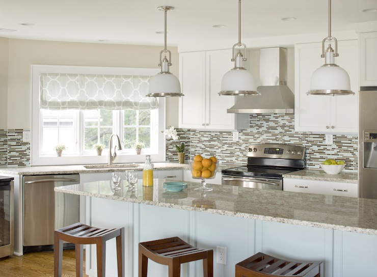 White Kitchen Light Granite brown granite countertops - transitional - kitchen - benjamin