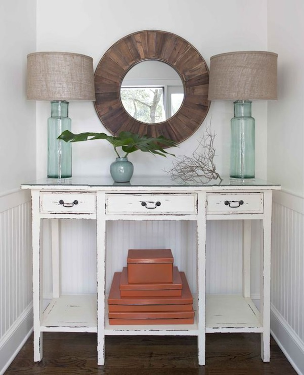 Aqua Blue Console Table Design Ideas