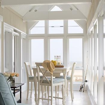 Cottage Sunroom, Cottage, dining room, Erin Glennon Interiors