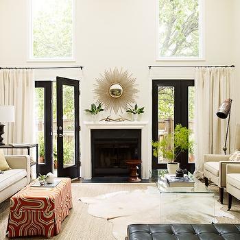 Mirror over Fireplace, Transitional, living room, Lauren Liess Interiors