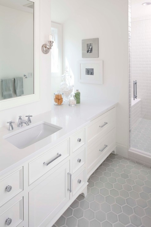Gray Hex Tiles Contemporary Bathroom Murphy Co Design