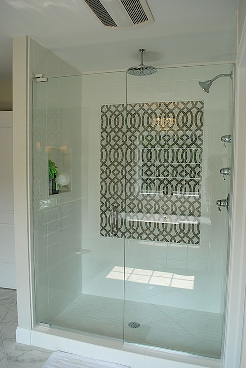 White Stone Subway Tile In Shower Design Decor Photos