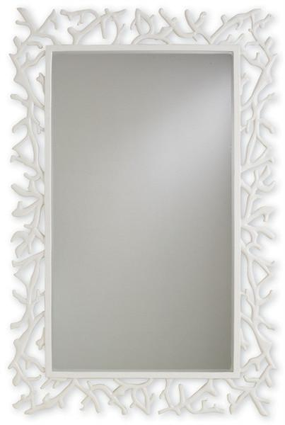 White Coral Bordered Wall Mirror