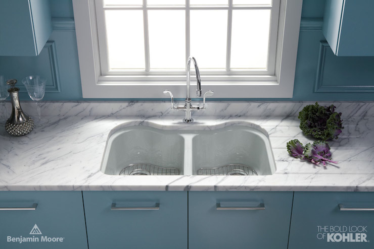 Dual KItchen Sink - Contemporary - kitchen - Benjamin Moore Province ...