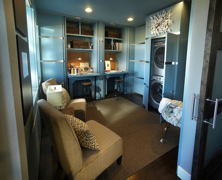 Hidden washer and dryer contemporary laundry room Secret spaces hgtv