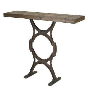 Factory Console Table design by Currey & Company, Burke Decor