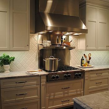 arabesque tile transitional kitchen indigo ochre