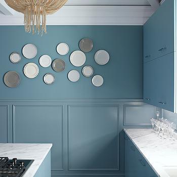 Blue Kitchen, Contemporary, kitchen, Benjamin Moore Province Blue, Kohler