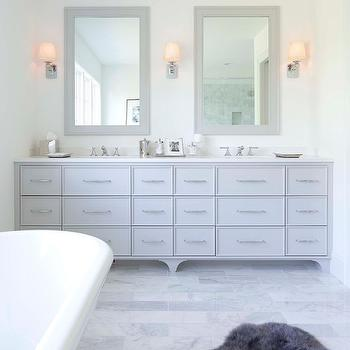 Gray Double Washstand, Contemporary, bathroom, Murphy & Co. Design