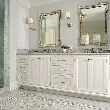 Fretwork Mirrors, Traditional, bathroom, Murphy & Co. Design