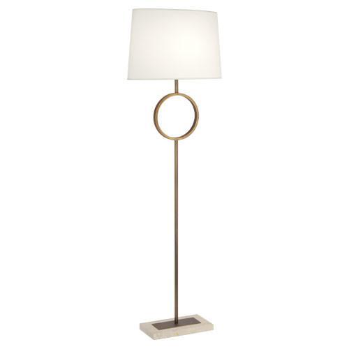 Logan Collection Brass Circle Floor Lamp