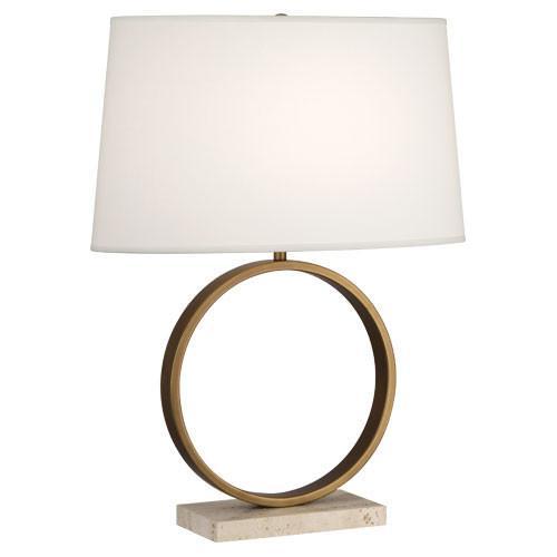 Brass Circle Table Lamp