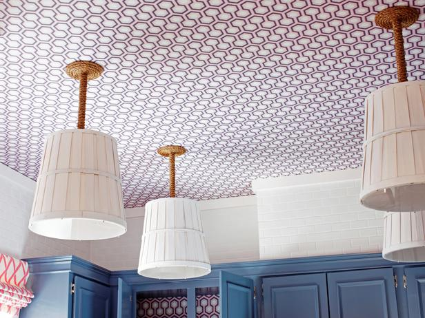 Wallpapered Ceiling Eclectic Kitchen Diy Network
