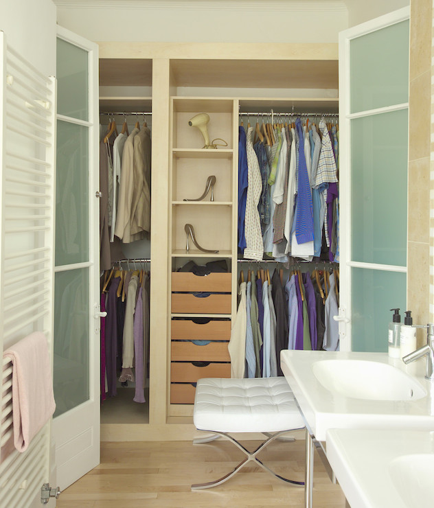 Closet With Frosted Glass Doors Contemporary Closet Lonny Magazine