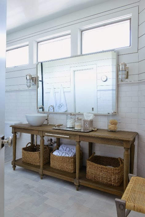 view full size. Repurposed Sink Console   Cottage   bathroom   Kate Jackson Design