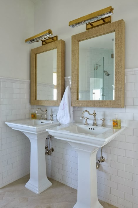 Elegant Grasscloth Mirror