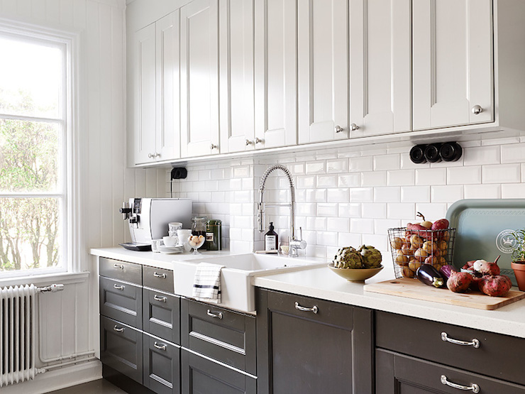 Interior White And Black Kitchen Cabinets black and white kitchen transitional stadshem kitchen