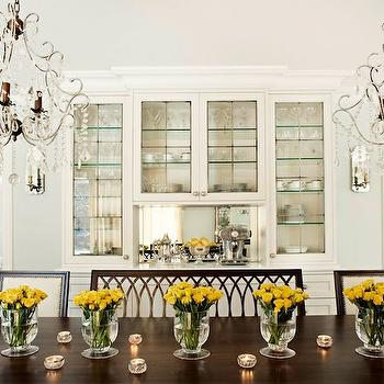 Built In China cabinet, Transitional, dining room, Elizabeth Metcalfe