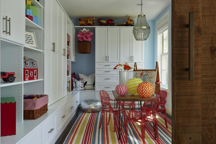 Contemporary Playroom Stage With Benjamin Moore In Your