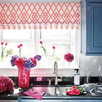 Steel Blue Cabinets, Eclectic, kitchen, DIY Network
