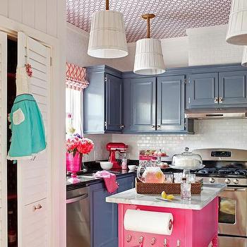 Pink Kitchen Island, Eclectic, kitchen, DIY Network