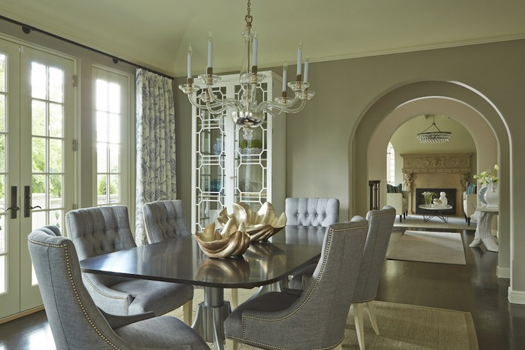 Gray Linen Dining Chairs