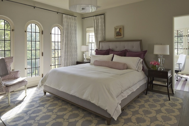 Lavender Bedroom - Transitional - bedroom - Benjamin Moore Gray Owl ...