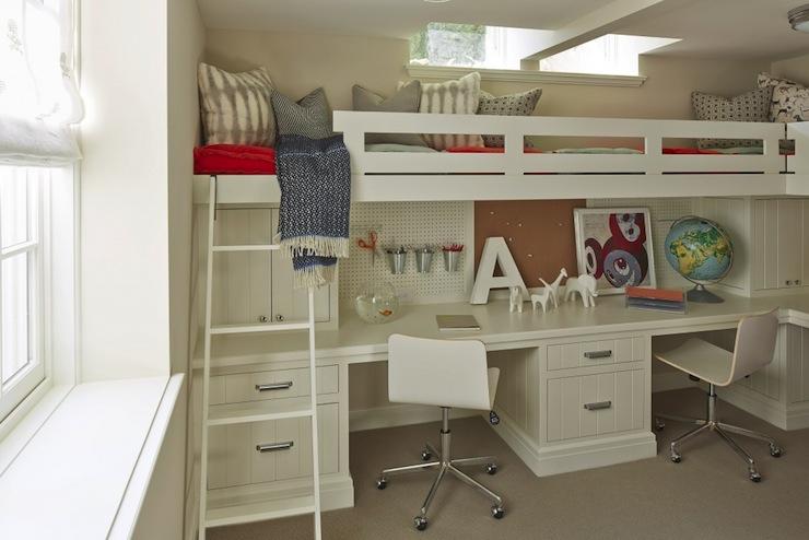 bed over desk transitional boy 39 s room benjamin moore alaskan skies martha o 39 hara interiors. Black Bedroom Furniture Sets. Home Design Ideas