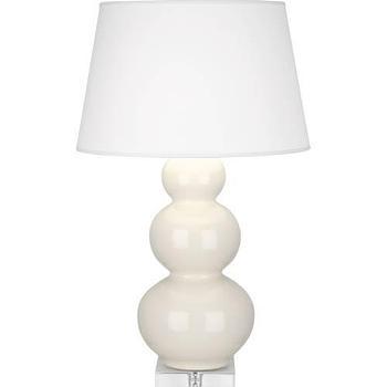 Robert Abbey Triple Gourd 1 Light Table Lamp in Bone I homeclick.com